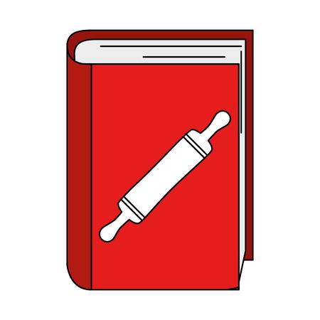 boek recepten met vector de illustratieontwerp van de bakkerijrol