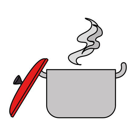 kitchen pot hot icon vector illustration design
