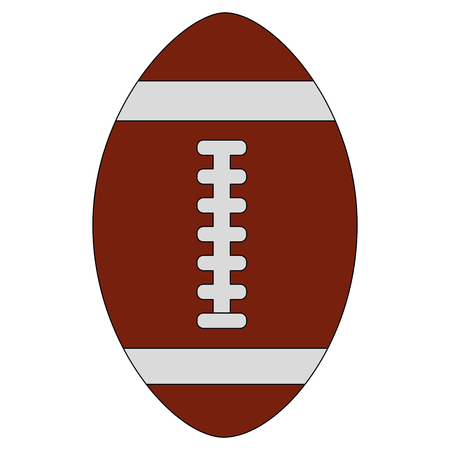 american football ball equipment sport vector illustration
