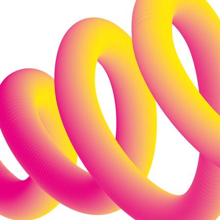 fluid liquid creative abstract neon blend vector illustration Ilustração