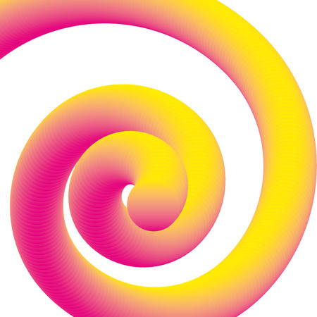 fluid gradient spiral abstract neon vector illustration Illusztráció