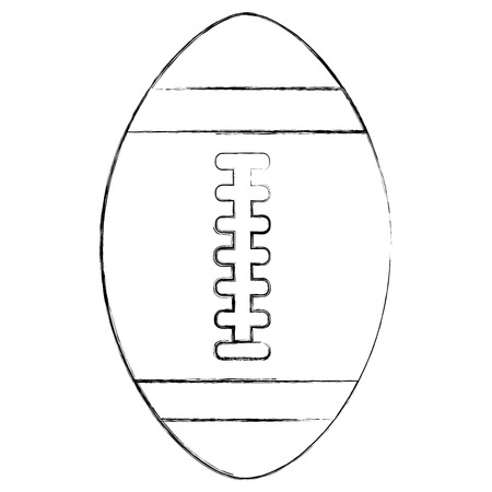 american football ball equipment sport vector illustration sketch