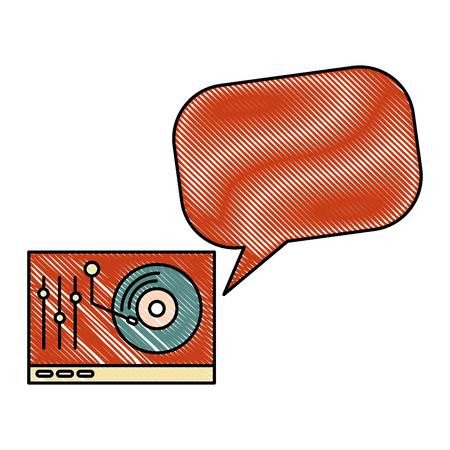 lp player music retro style vector illustration design