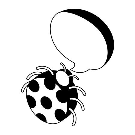 ladybug virus speech bubble isometric vector illustration 向量圖像