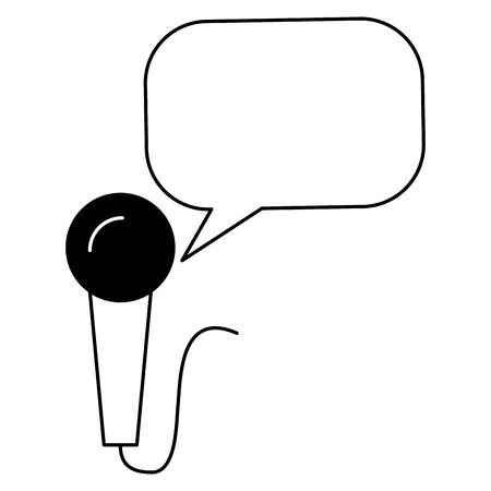 vintage style microphone speech bubble vector illustration Illustration