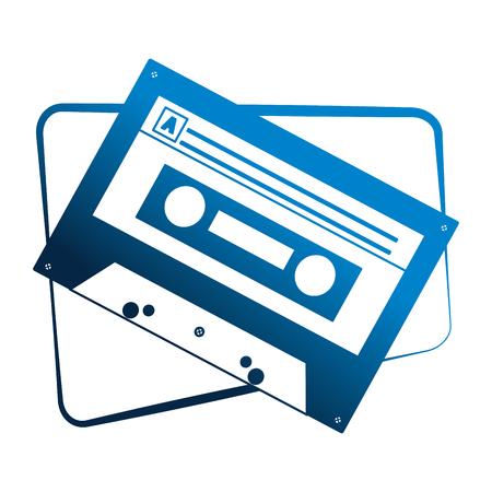 cassette audio music vintage image vector illustration 일러스트