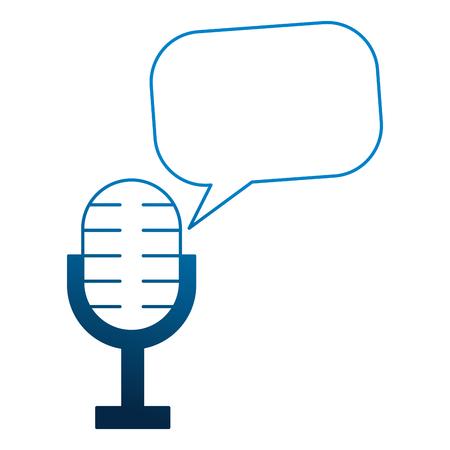 microphone speech bubble vintage style vector illustration 일러스트