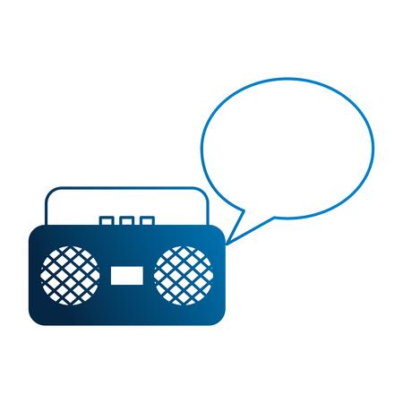 radio speech bubble vintage style vector illustration