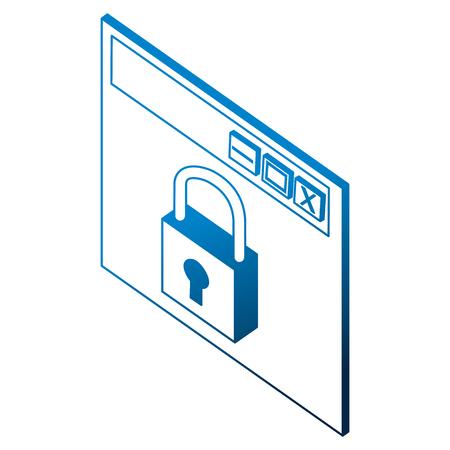 Ilustración de vector de seguridad de gestión de seguridad cibernética de gestión Foto de archivo - 102109724