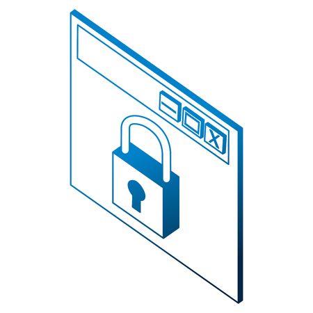 website cyber security protection information vector illustration Stok Fotoğraf - 102109724
