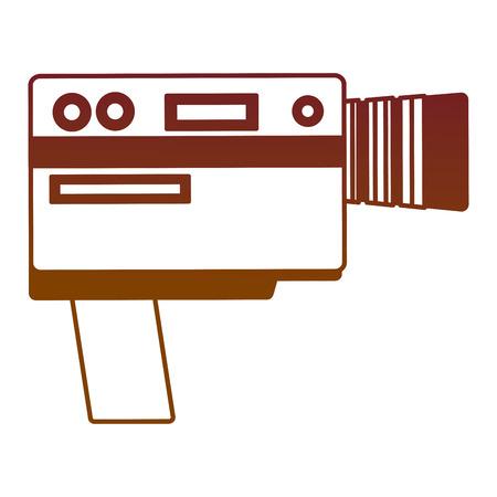 video camera device vintage image vector illustration