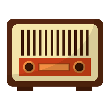 radio music retro style vector illustration design