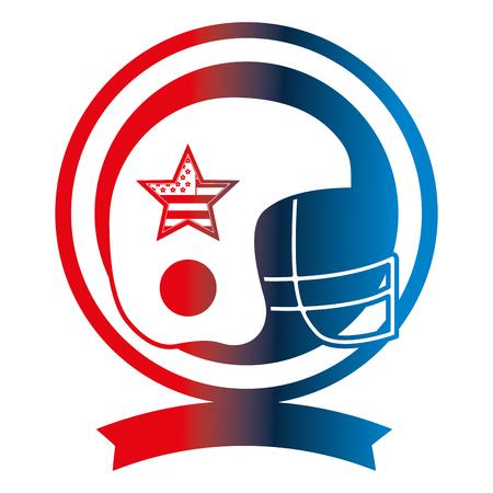 american football helmet sport emblem vector illustration