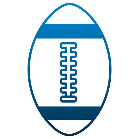 american football ball equipment sport vector illustration Illustration