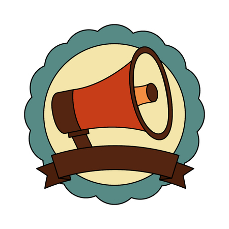 megaphone sound retro style vector illustration design