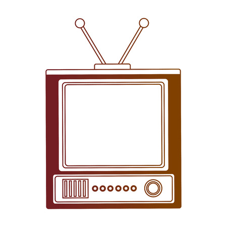 retro television vintage device image vector illustration