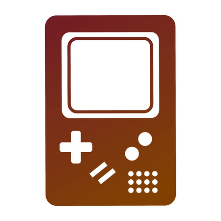 retro game electronic console classical vector illustration