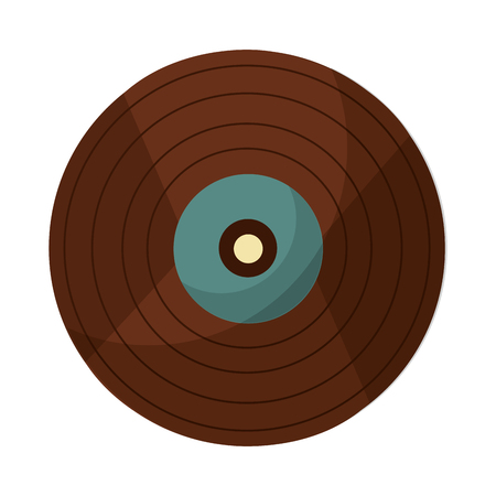 vinyl disk retro music vector illustration design