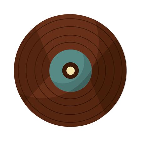 vinyl disk retro music vector illustration design