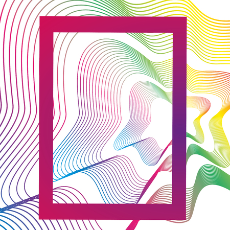 lines and colors workart frame vector illustration design