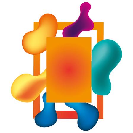 paint and colors workart frame vector illustration design Illustration