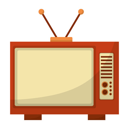 tv old retro style vector illustration design 일러스트