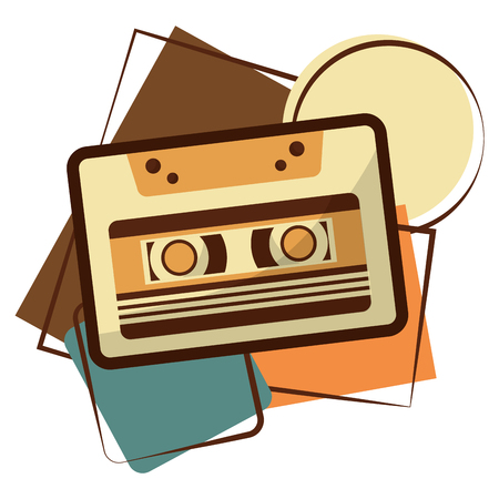 cassette music retro style vector illustration design
