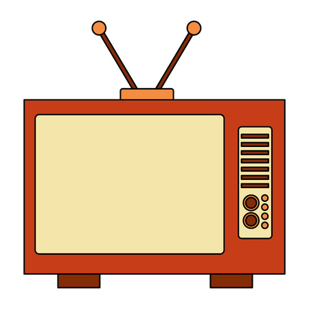 tv old retro style vector illustration design Illustration