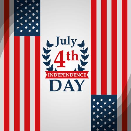 american independence day 4 july nation patriotism vector illustration