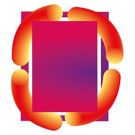 verf en kleuren workart frame vector illustratie ontwerp