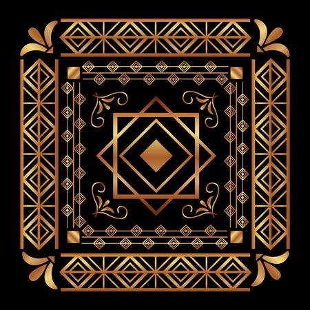 Arte art deco ornamento vintage ornamento ilustración vectorial abstracto Foto de archivo - 102077029