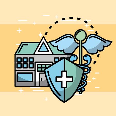 home protection medicine health medical vector illustration