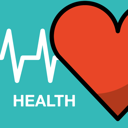 heart beat cardio health medical vector illustration