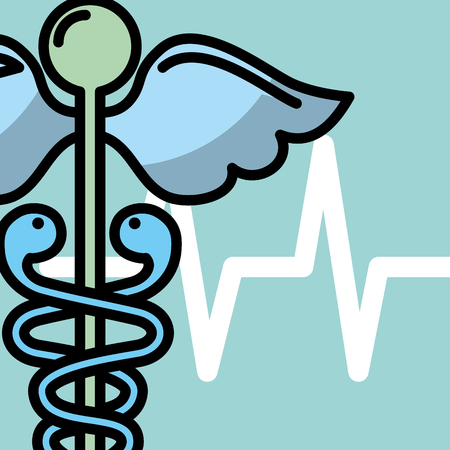 caduceus medicine health medical symbol vector illustration