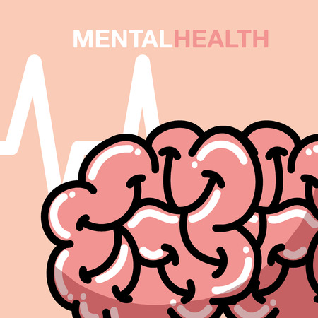mental health medical human brain vector illustration