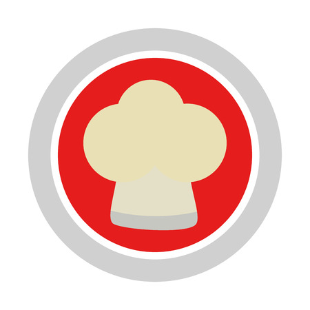 button with chef hat vector illustration design