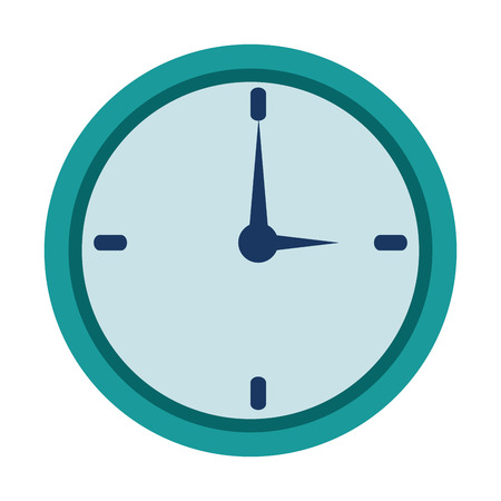 time clock isolated icon vector illustration design Illustration