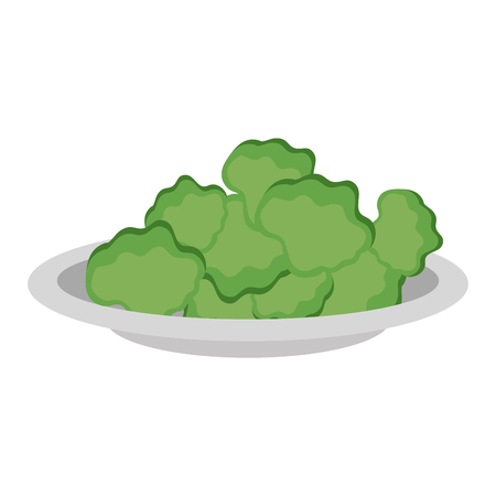 delicious lettuce vegetable salad on plate vector illustration design