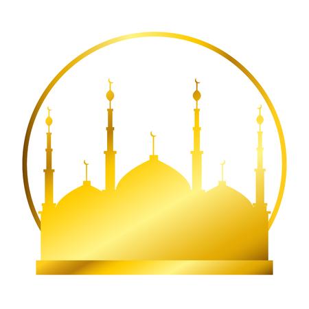 jerusalem temple ramadan kareem celebration vector illustration design