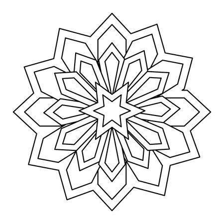 mandala decorative ramadan kareem vector illustration design Illustration