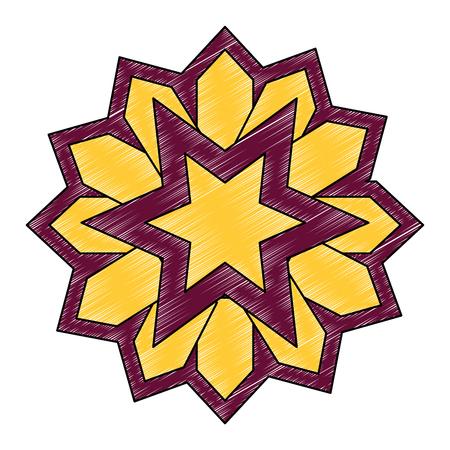 Mandala décoratif ramadan kareem illustration vectorielle conception Banque d'images - 102030151