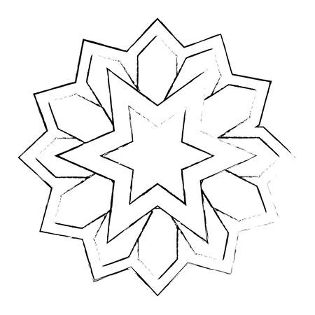 Mandala décoratif ramadan kareem illustration vectorielle conception Banque d'images - 102030505