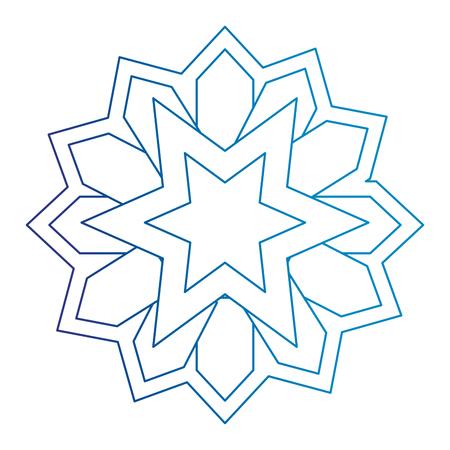 mandala decorative ramadan kareem vector illustration design Stock Illustratie