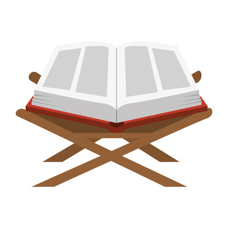 sacred book with lectern religious icon vector illustration design Imagens - 102030550
