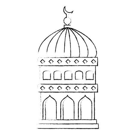 jerusalem temple dome ramadan kareem vector illustration design Ilustrace