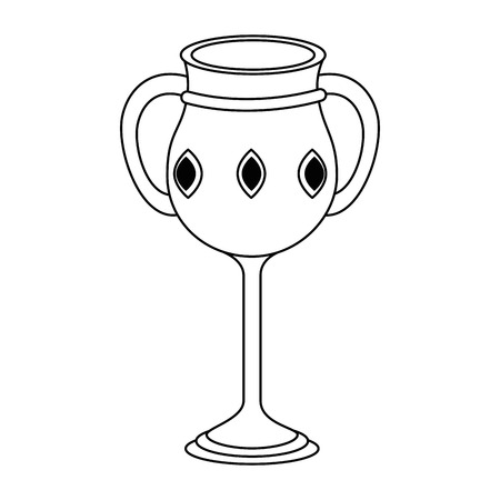 sacred chalice cup icon vector illustration design Vettoriali