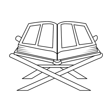 sacred book with lectern religious icon vector illustration design Imagens - 102030611
