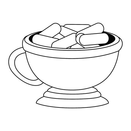 ramadan kareem celebration food vector illustration design