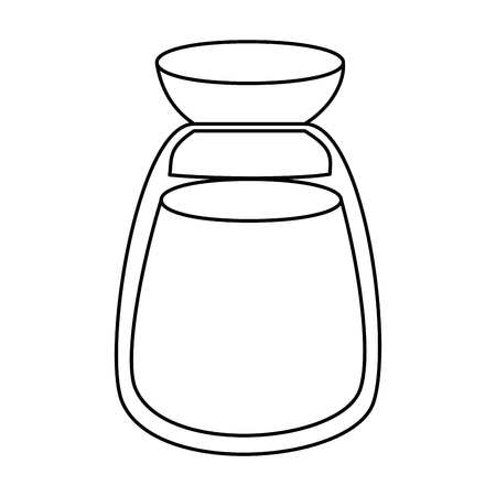ramadan kareem jar with powder vector illustration design Illustration