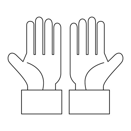 hands human isolated icon vector illustration design